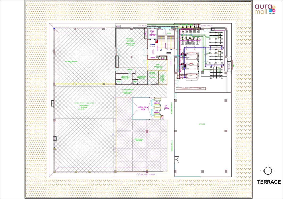 terrace plan aura mall